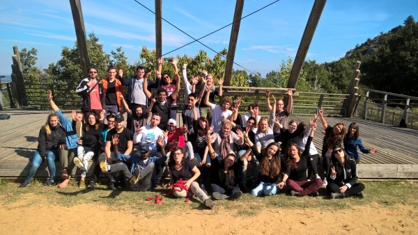Les volontaires 2016-2017 de Drôme-Ardèche lors de leur semaine d'intégration