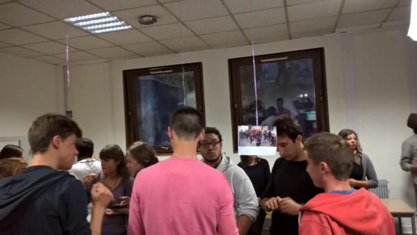 La soirée a réunit les 40 volontaires isérois et une vingtaine d'anciens volontaires de l'antenne