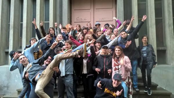 Les volontaires posent pour la traditionnelle photo de promotion !
