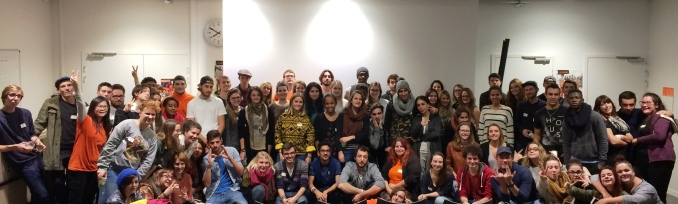 Les volontaires du Rhône lors de leur soirée de lancement, en novembre 2016