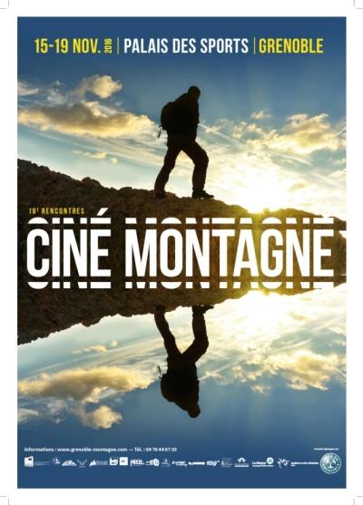 L'affiche des 18èmes Rencontres Ciné Montagne de Grenoble, du 15 au 19 novembre 2016